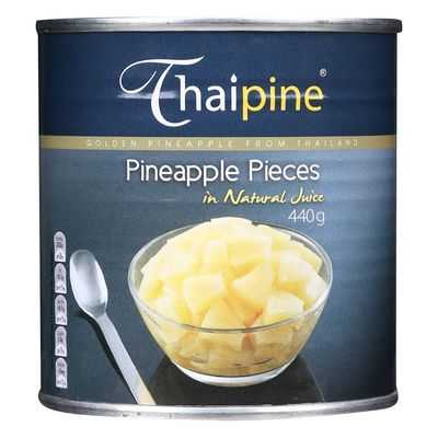 Thai Pine Pineapple Pieces In Natural Juice