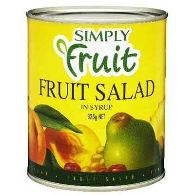 Simply Fruit Fruit Salad In Syrup
