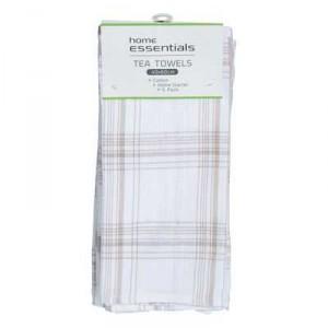 Home Essentials Kitchen Manchester Cotton Tea Towel Set