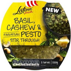 Latina Fresh Stir-through Sauce Basil & Cashew Pesto