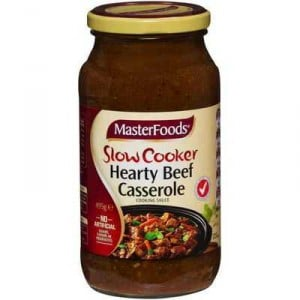 Masterfoods Simmer Sauce Hearty Beef Casserole