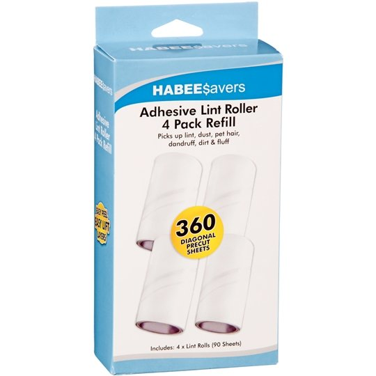 Habee Savers Roller Refill 4x90 Sheets