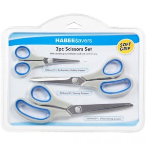 Habee Savers Scissors Triple Value Pack