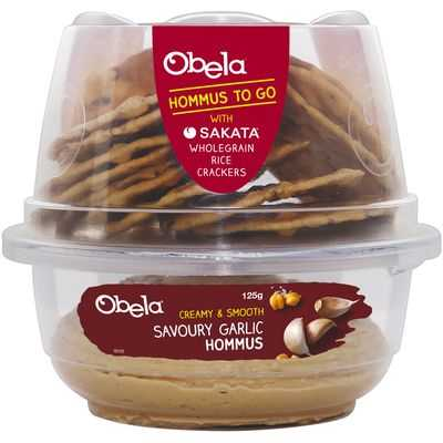 Obela Grab & Go Garlic Hommus