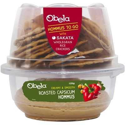 Obela Grab & Go Roast Capsicum Hommus