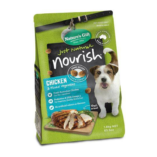 mom319923 reviewed Nature's Gift Adult Dog Food Chicken & Mixed Vegetables