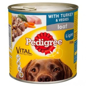 Pedigree Adult Dog Food Loaf Light Turkey & Vegies