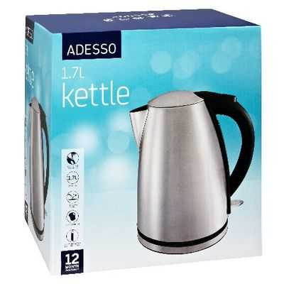 Adesso Appliance Stainless Steel Kettle Cordles