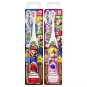 Spinbrush Toothbrush Electric Kids Mario Or Princess