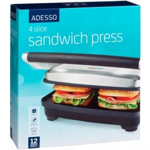 Adesso Appliance Sandwich Press 4 Slice