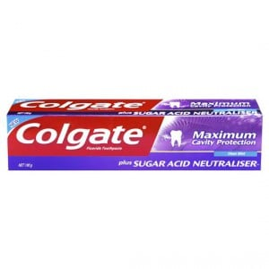 Colgate Max Cavity Protection Toothpaste Sugar Acid Neutrlsr Cool Mint