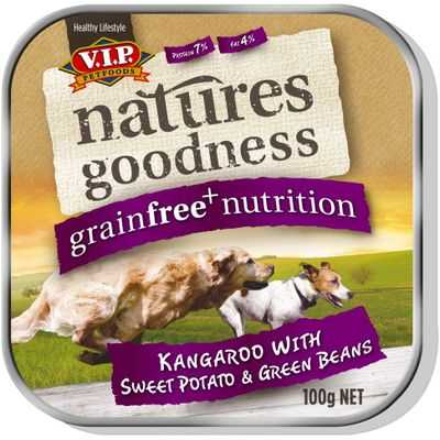 Vip Natures Goodness Grainfree Adult Dog Food Kangaroo Sweet Potato & Beans