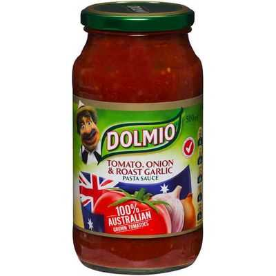 Dolmio Australian Grown Tomato Pasta Sauce Tomato Onion & Garlic