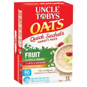Uncle Tobys Quick Oats Sachets Fruit Variety