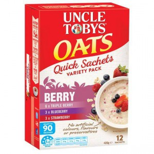 Uncle Tobys Quick Oats Sachets Berry Variety