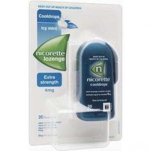 Nicorette Quit Smoking Cool Drops 4mg