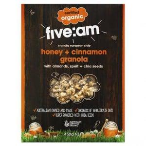 Five:am Organic Honey & Cinnamon Granola