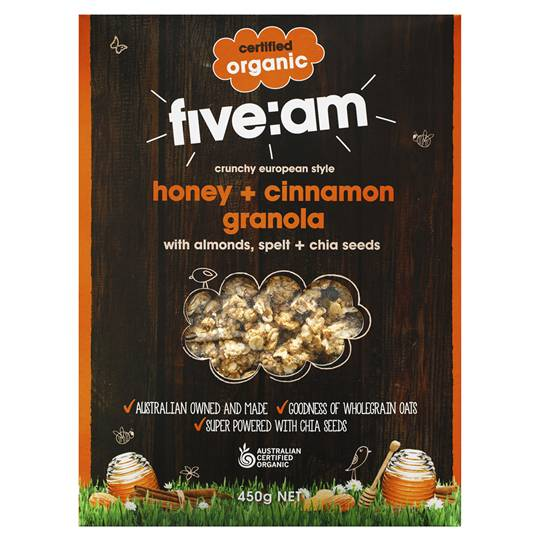 Five:am Organic Honey & Cinnamon Granola
