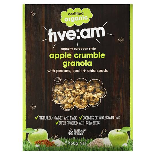 Five:am Organic Apple Crumble Granola