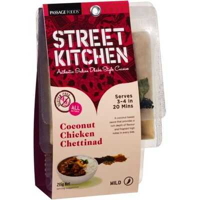Street Kitchen Cooking Coconut Chicken Chettinad