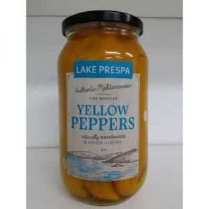 Lake Prespa Yellow Peppers Fire Roasted
