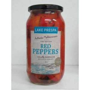 Lake Prespa Red Peppers Fire Roasted