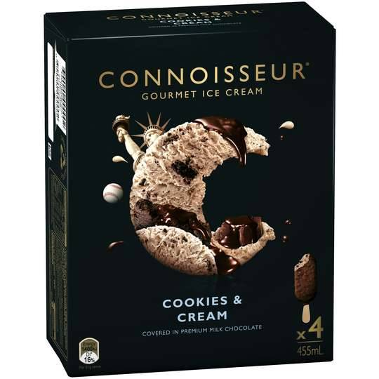 Connoisseur Ice Cream Cookies & Cream