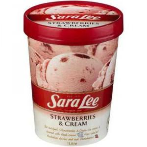Sara Lee Ice Cream Strawberries & Double Cream
