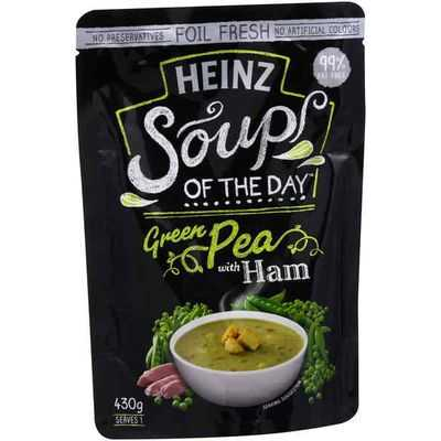 Heinz Soup Of The Day Soup Pouch Green Pea With Ham