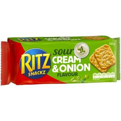Ritz Snackz Cracker Sour Cream & Onion