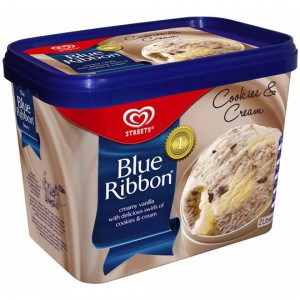Streets Blue Ribbon Ice Cream Cookies & Cream