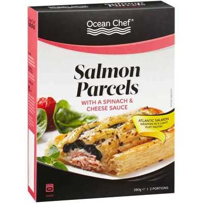 Ocean Chef Salmon Parcels Spinach & Cheese Sauce