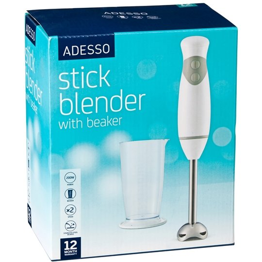 Adesso Appliance Stick Blender With Beaker