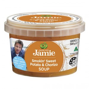 Created With Jamie Soup Smoked Potato & Chorizo