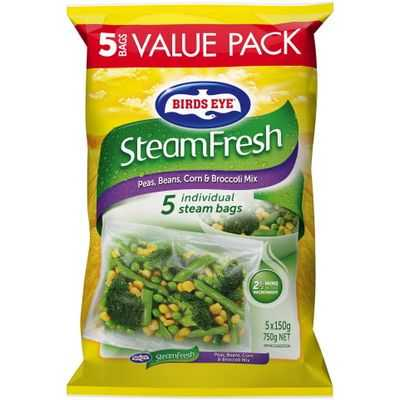 Birds Eye Steam Fresh Peas Beans Broc Corn Mix
