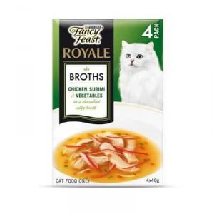 Fancy Feast Adult Cat Food Chicken Surimi Veg Broth