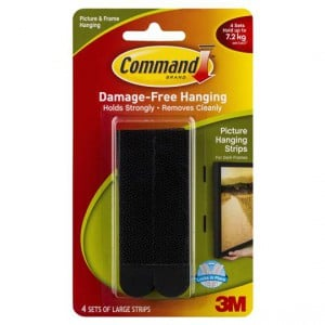 Command Picture Hanging Strips Large Black