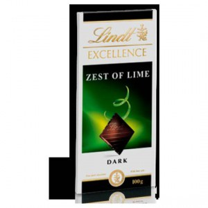 Lindt Excellence Dark Chocolate Zest Of Lime