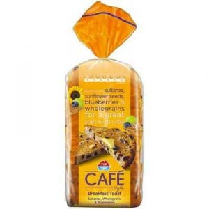 Tip Top Cafe Style Fruit Breakfast Toast Wholegrain
