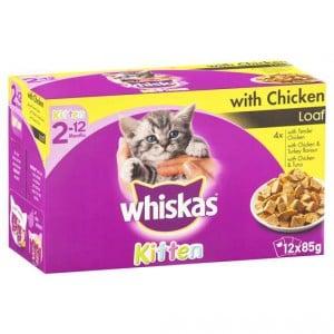 Whiskas Kitten Food Chicken Multipack