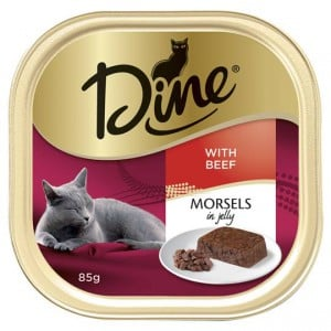 Dine Adult Cat Food Morsels In Jelly With Beef