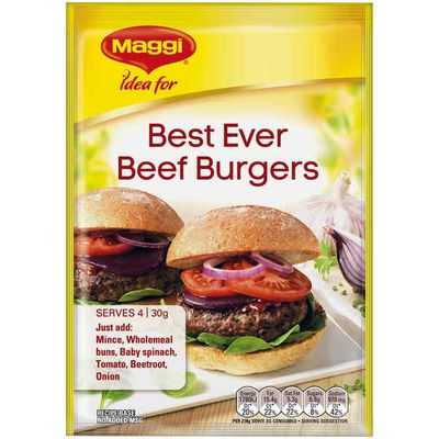 Maggi Best Ever Beef Burgers Recipe Base