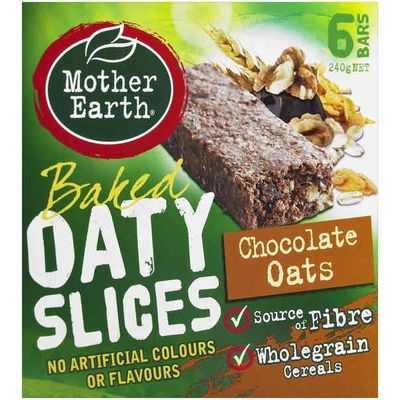 Mother Earth Baked Oaty Slice Chocolate