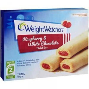 Weight Watchers Bars Raspberry White Choc
