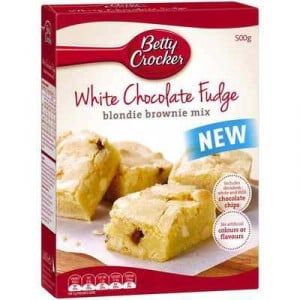 Betty Crocker Cake Mix Blondie White Choc