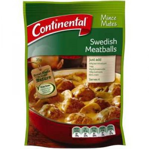 Continental Recipe Base Swedish Meatballs