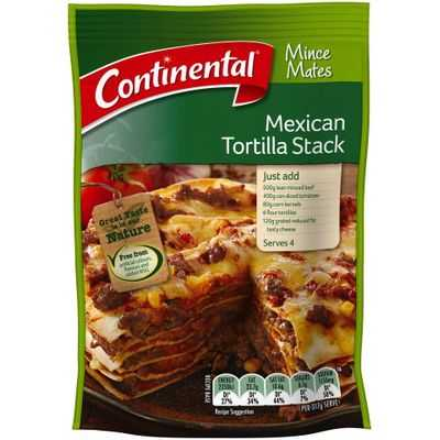 Continental Recipe Base Mexican Tortilla Stack