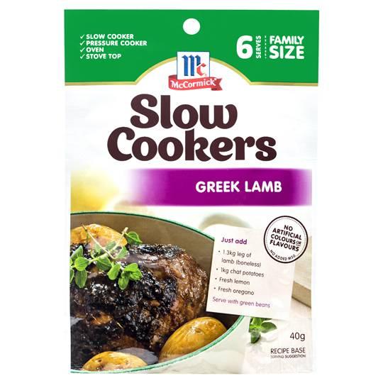Mccormick Slow Cookers Greek Lamb
