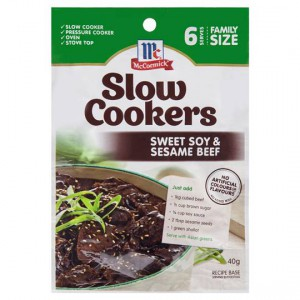 Mccormick Slow Cookers Sweet Soy & Sesame Beef