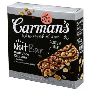 Carman's Dark Choc Espresso Nut Bars